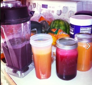 I use raw fruit smoothies to transition off juice fasts.