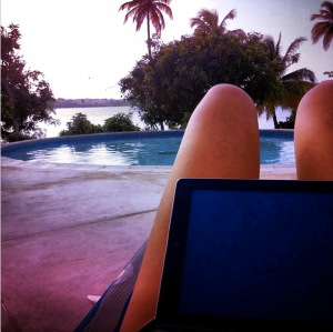 My pool-side office!